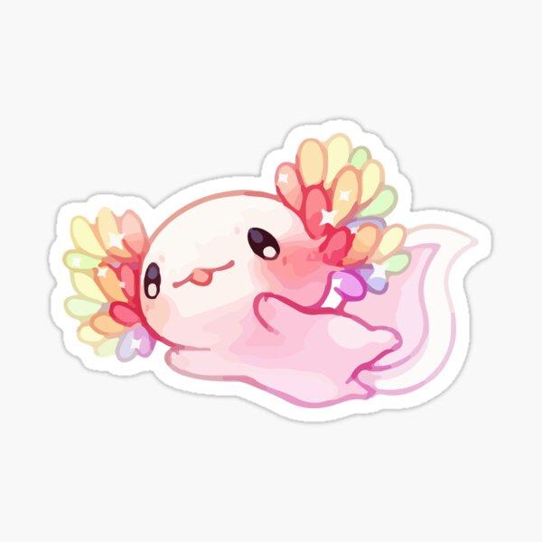 Rainbow Kawaii Axolotl Sticker