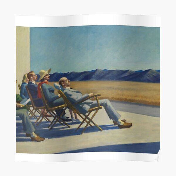 Edward Hopper frío Póster