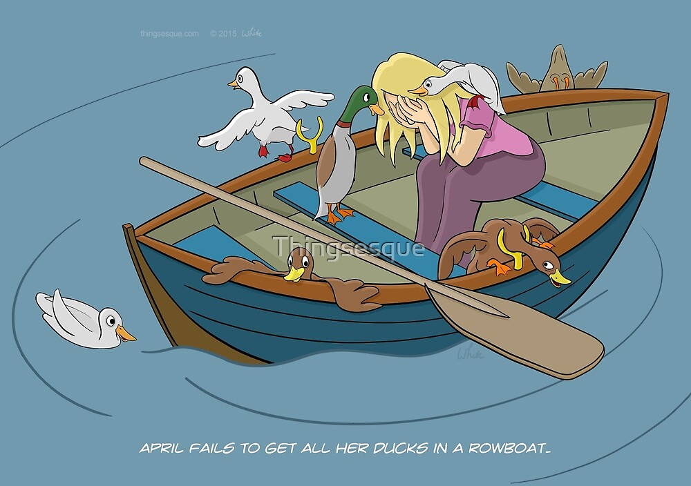 Ducks in a Rowboat by Thingsesque