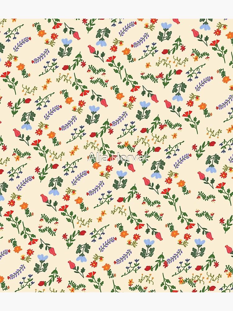 Bright Vintage Floral Pattern by chotnelle