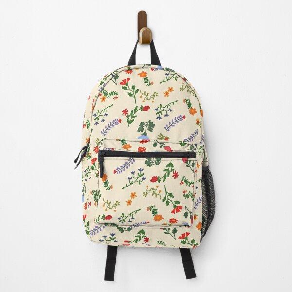 Bright Vintage Floral Pattern Backpack