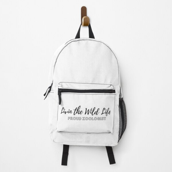 Living the wild life - proud zoologist Zoologist Bird lover Animal lover Funny Veterinarian Cheetah frog Biology Science Guinea pig Backpack
