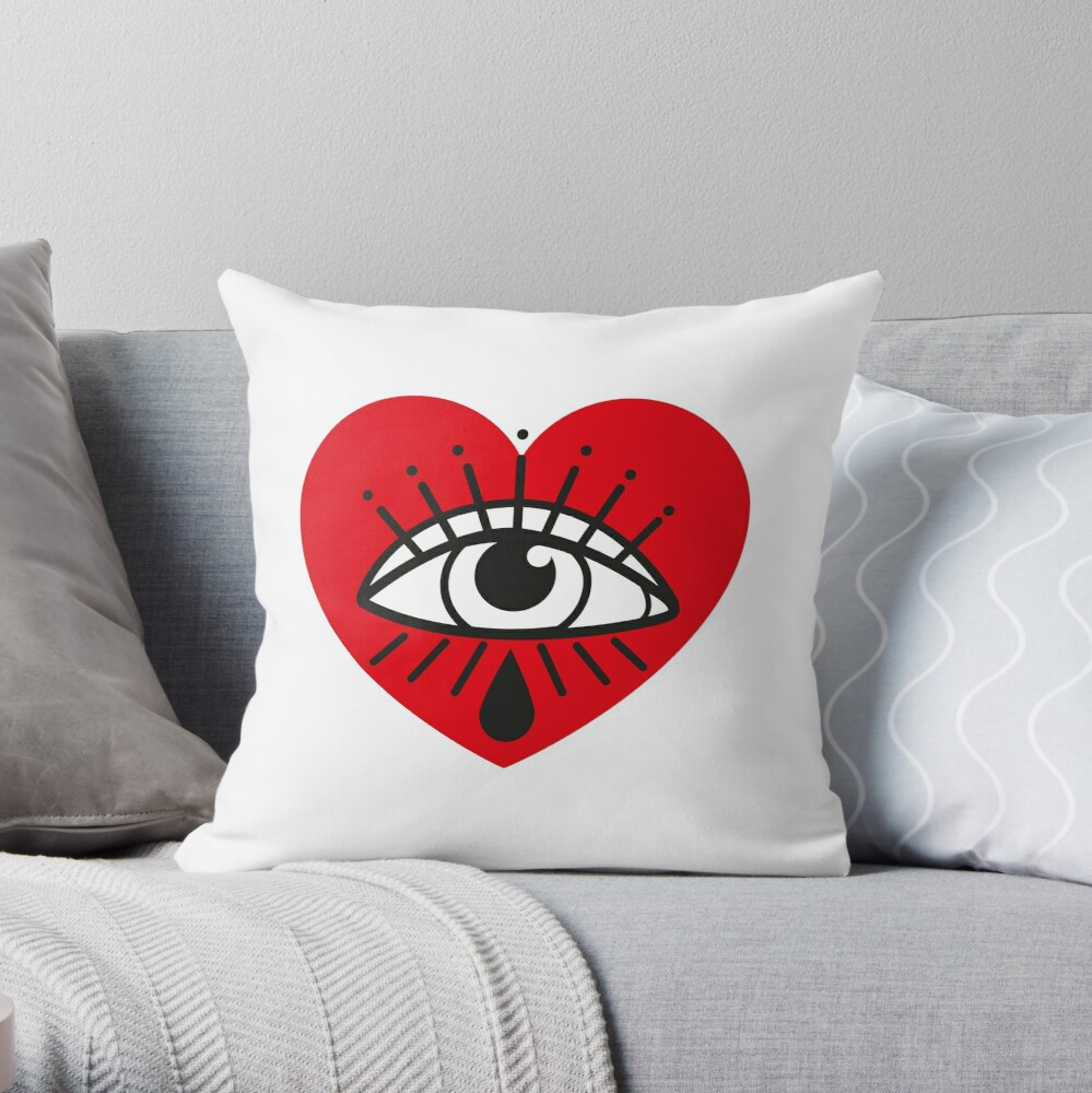 See with your heart Throw Pillow