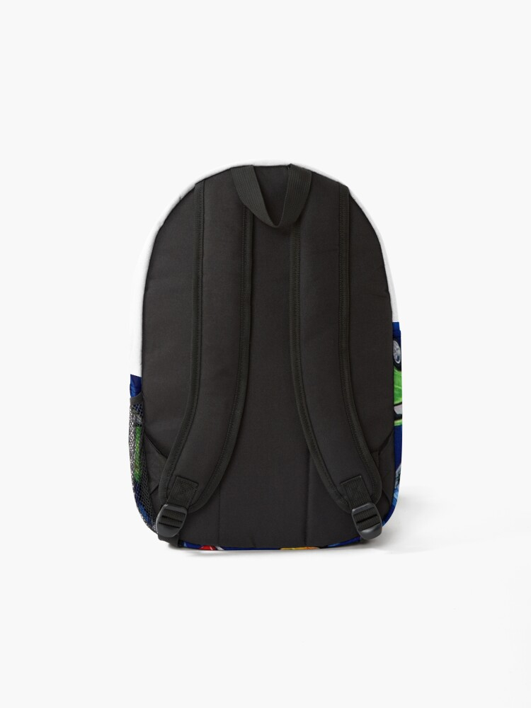 Alternate view of Auto Sports Muscle Cars Pattern Backpack
