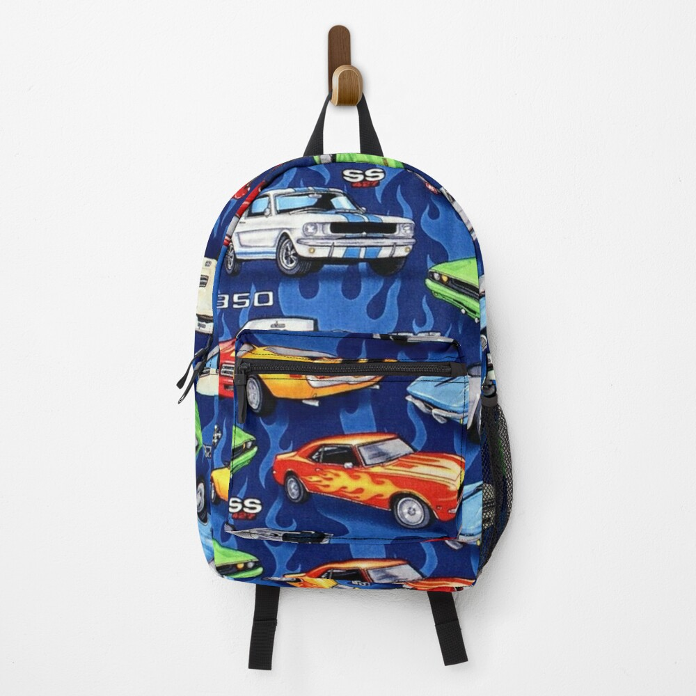 Auto Sports Muscle Cars Pattern Backpack