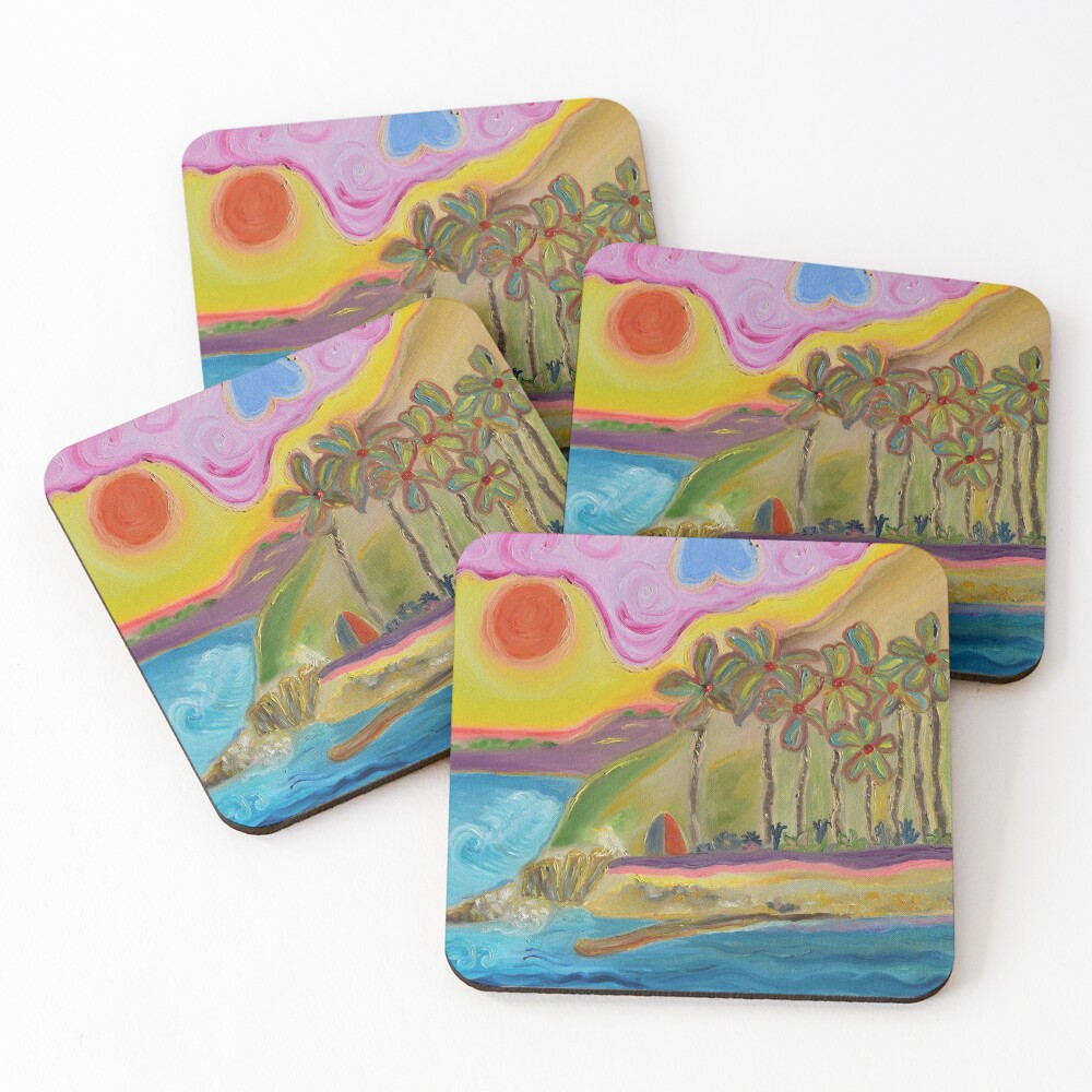 Painting Hidden Gem San Pedro CA Coasters (Set of 4)
