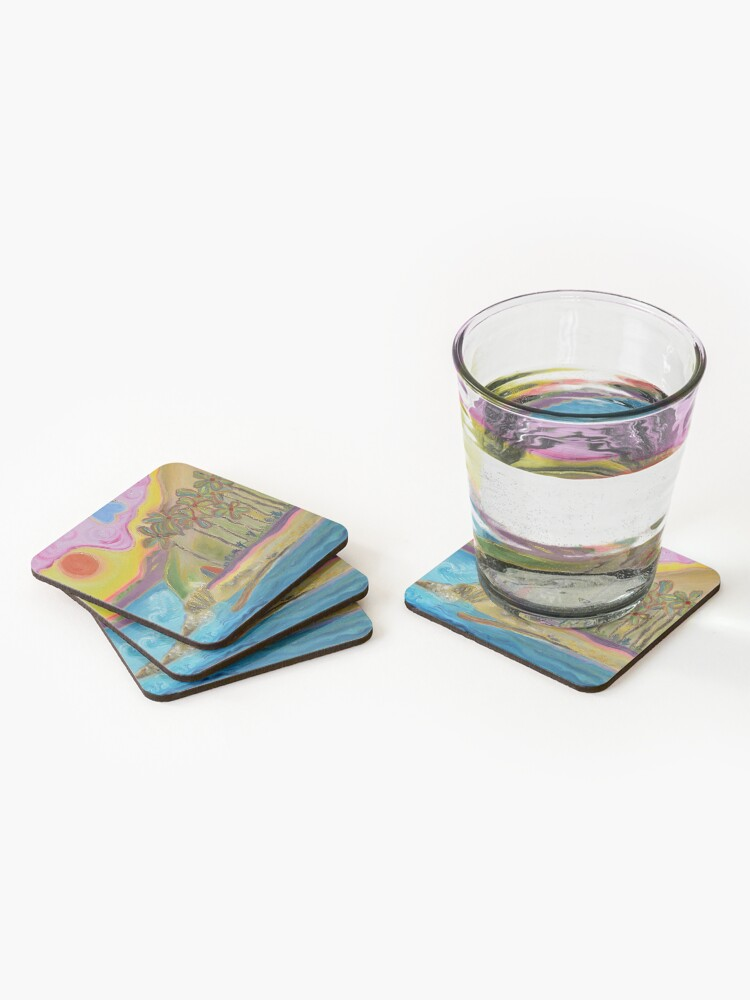 Alternate view of Painting Hidden Gem San Pedro CA Coasters (Set of 4)
