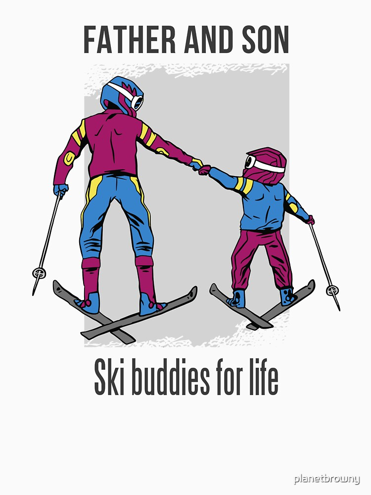 Father and Son - Ski buddies for life von planetbrowny