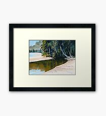"""Tidal Creek, Dunk Island"" Framed Print"