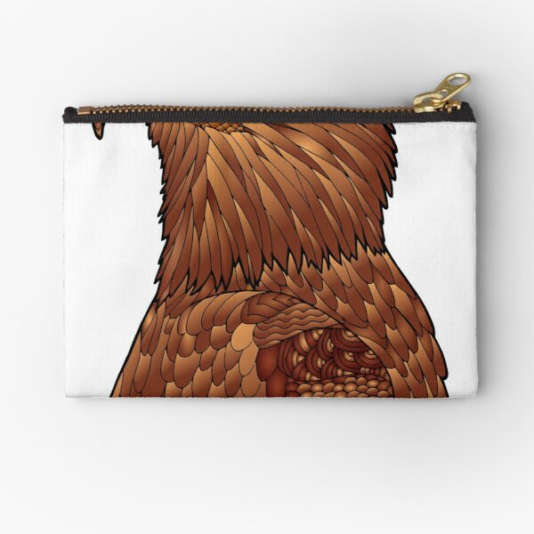 Bald Eagle Staring All Brown Zipper Pouch