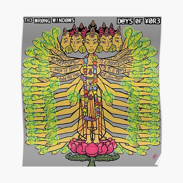 """The Wrong Windows """"Days of Yore"""" Vinyl Cover Painting """"The Golden Goddess"""" by Jennifer J. Jelenski Poster"""