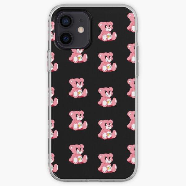 pistola bear mcfly 2020 print young dumb thrills black bg iPhone Soft Case