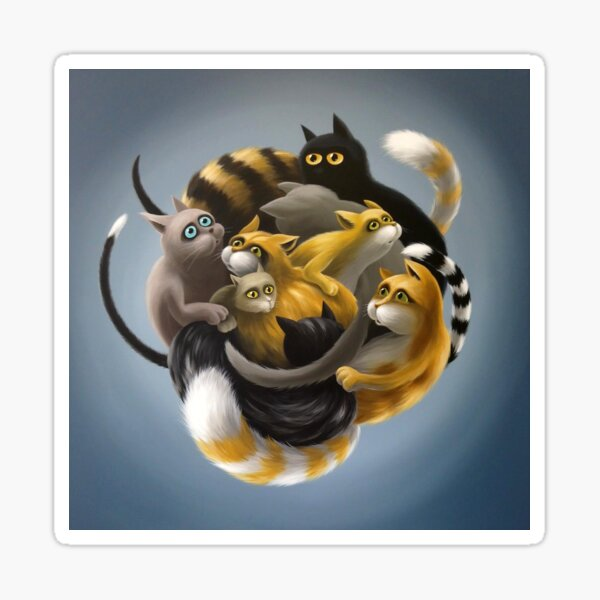 Katzenknäuel Sticker