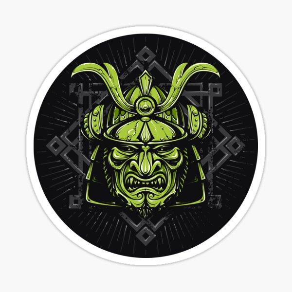 Samurai crossbones decal samurai sword katana bushido skull badge sticker