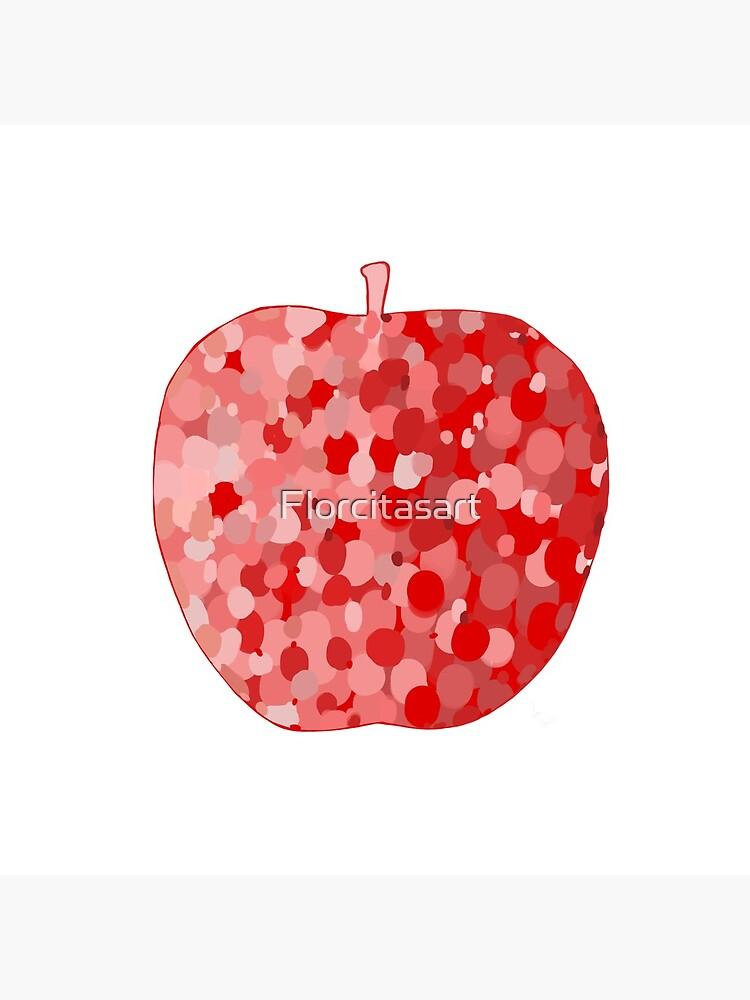 red apple digital drawing food illustration by Florcitasart