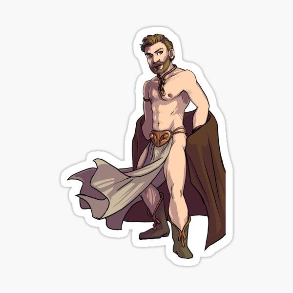 Bearded Space Wizard in Slave Bikini with Extra Sass Sticker