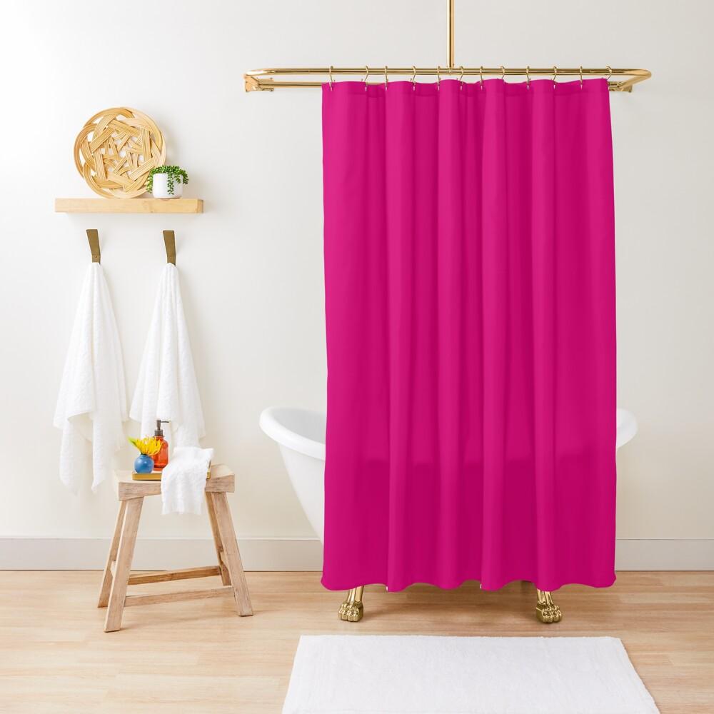 Fuchsia dress, Fuchsia socks, Fuchsia notebook Shower Curtain