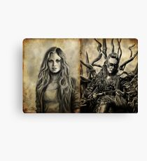 Clarke and Lexa (Clexa) Canvas Print