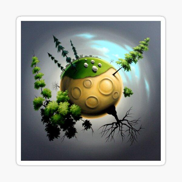 Planet mit Schafen Sticker