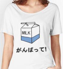 HARAJUKU MILK CARTON JAPANESE LETTER Women's Relaxed Fit T-Shirt