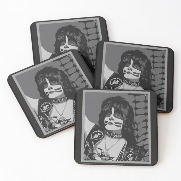Catman from Kiss band portrait Coasters (Set of 4)