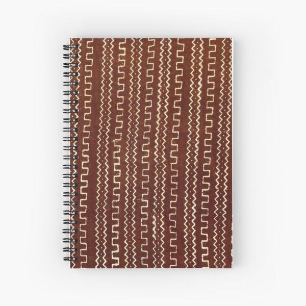 Cinnamon Brown Mudcloth 01 Spiral Notebook