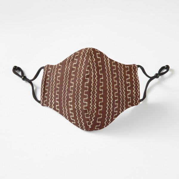 Cinnamon Brown Mudcloth 01 Fitted 3-Layer