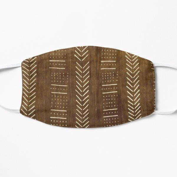Cinnamon Brown Mudcloth 02 Flat Mask