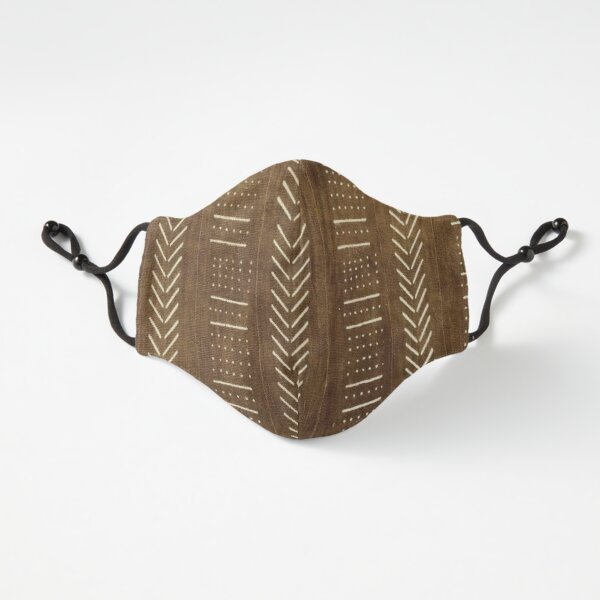 Cinnamon Brown Mudcloth 02 Fitted 3-Layer