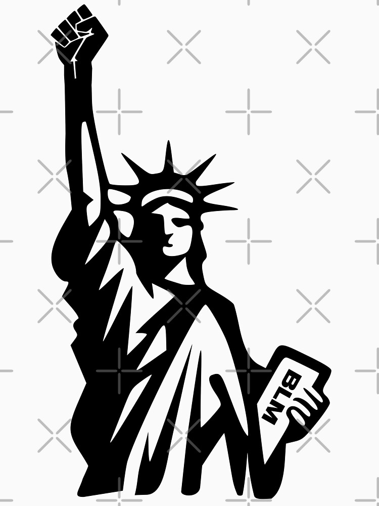 Black Lives Matter statue of liberty by mickydee.com by MickyDeeTees