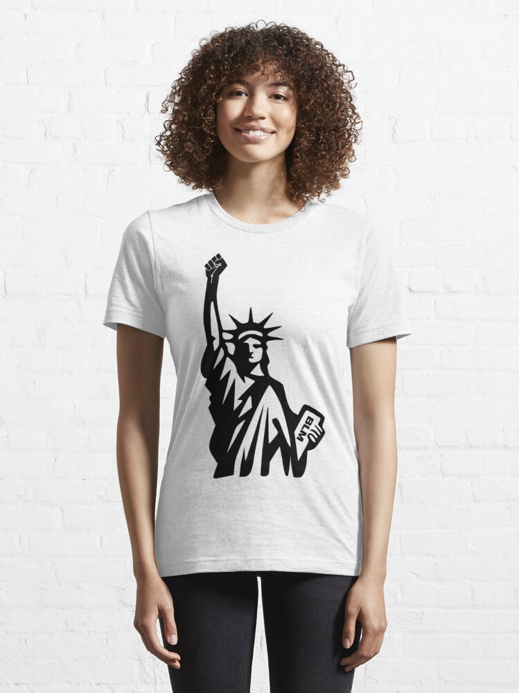 Alternate view of Black Lives Matter statue of liberty by mickydee.com Essential T-Shirt