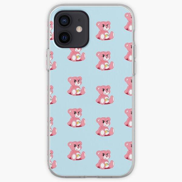 pistola bear mcfly 2020 print young dumb thrills pastel blue bg iPhone Soft Case