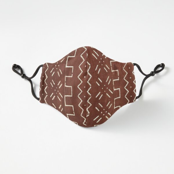 Cinnamon Brown Mudcloth 05 Fitted 3-Layer