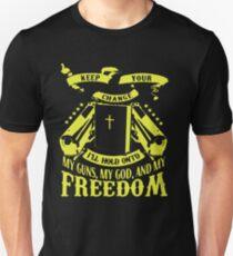 My guns my god and my freedom Unisex T-Shirt
