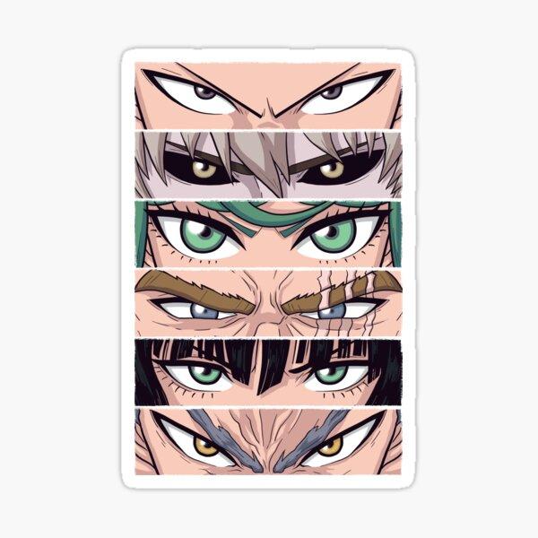One Punch Eyes Sticker