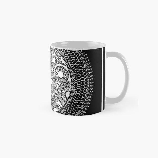 Tranquility Yin Yang | Black Mandala by SimmyGhatt Classic Mug