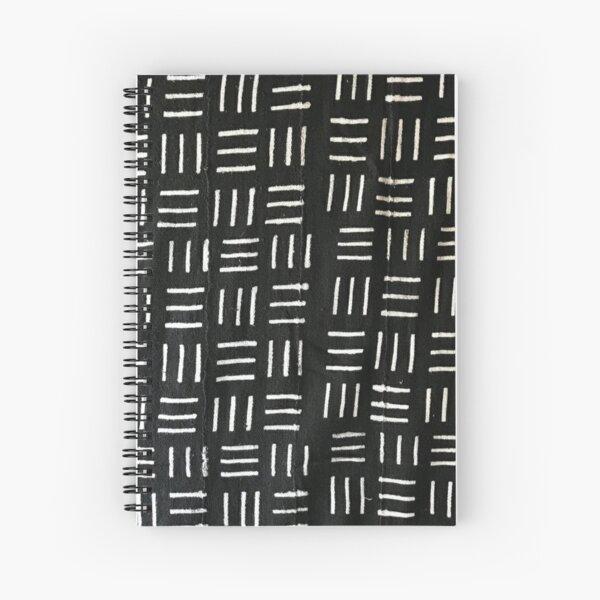 B&W Mudcloth 08 Spiral Notebook