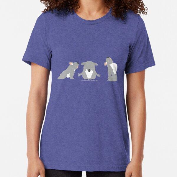 Yoga Koala Bear Tri-blend T-Shirt