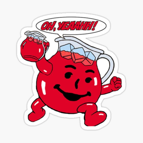 Kool Aid Man Character quote Sticker