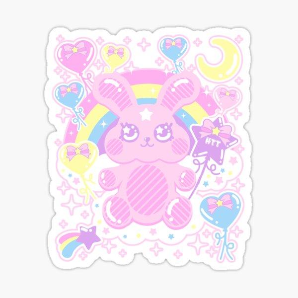 Kawaii Bubble Gum Bunny Sticker