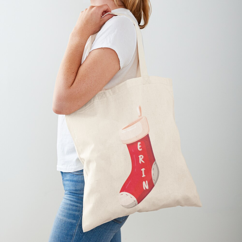 Stocking with name Erin Tote Bag