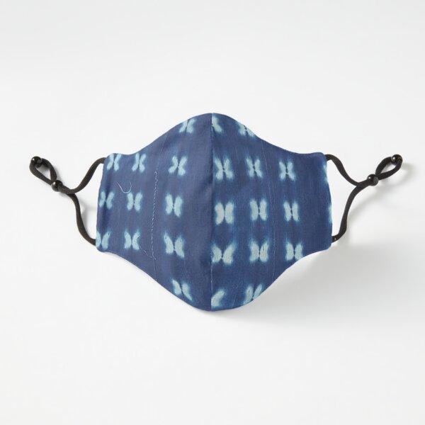Blue Indigo Mudcloth 04 Fitted 3-Layer