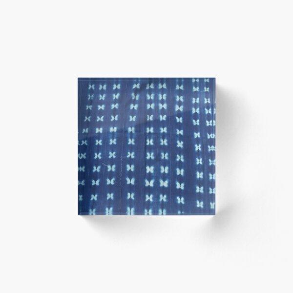 Blue Indigo Mudcloth 04 Acrylic Block