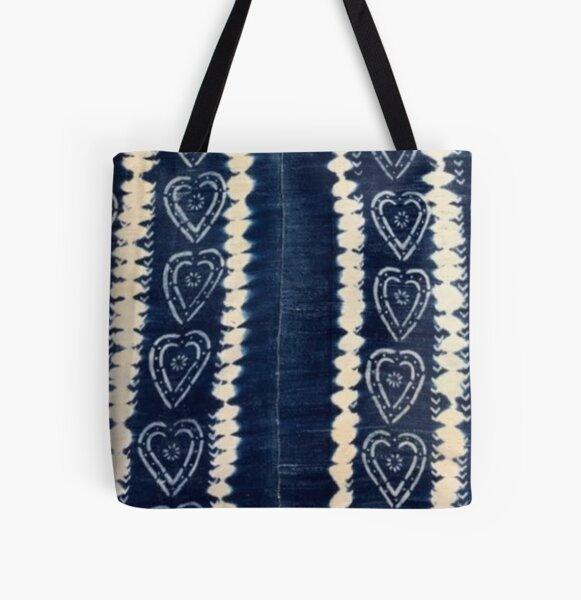 Blue Indigo Mudcloth 05 All Over Print Tote Bag
