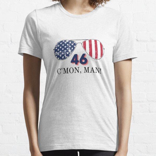 Joe Biden 46 Cmon Man Aviator Sunglasses 46th President Political Humor Red and Blue Essential T-Shirt