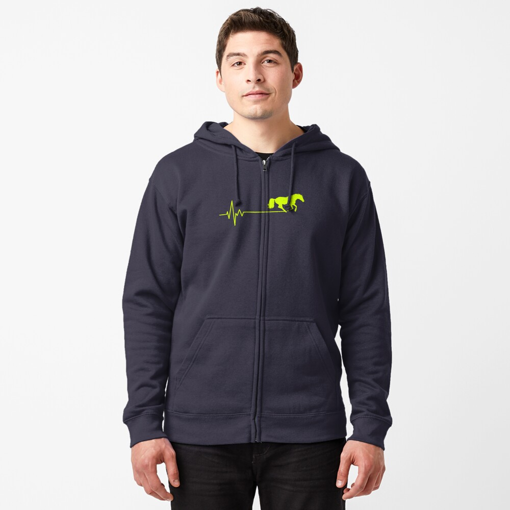 horse frequency of heart Zipped Hoodie
