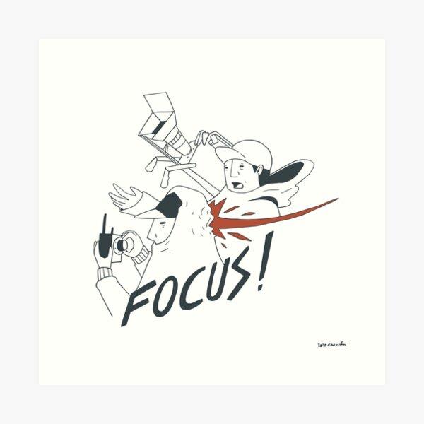 Focus Slap Art Print