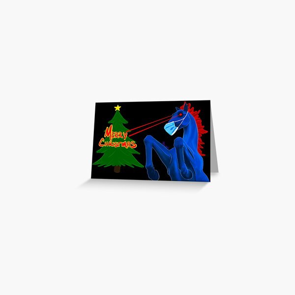 Merry Christmas, From Blucifer  Greeting Card