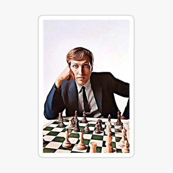 """Bobby Fischer """"Artwork"""" Sticker"""