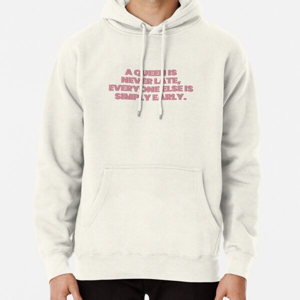 Princess Diaries Queen is never late Pullover Hoodie